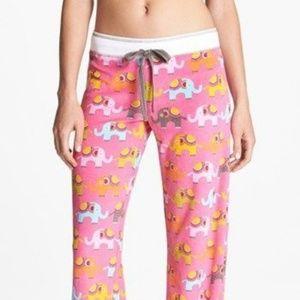 PJ Salvage Elephant Walk Pants Hot Pink/Elephants
